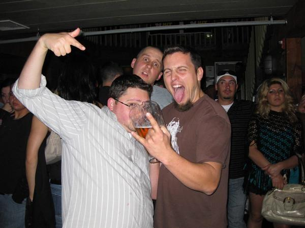 MTE, Doug & I while I enjoyed a delicious pitcher of Coors Light!